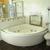 Акрилова кутова ванна